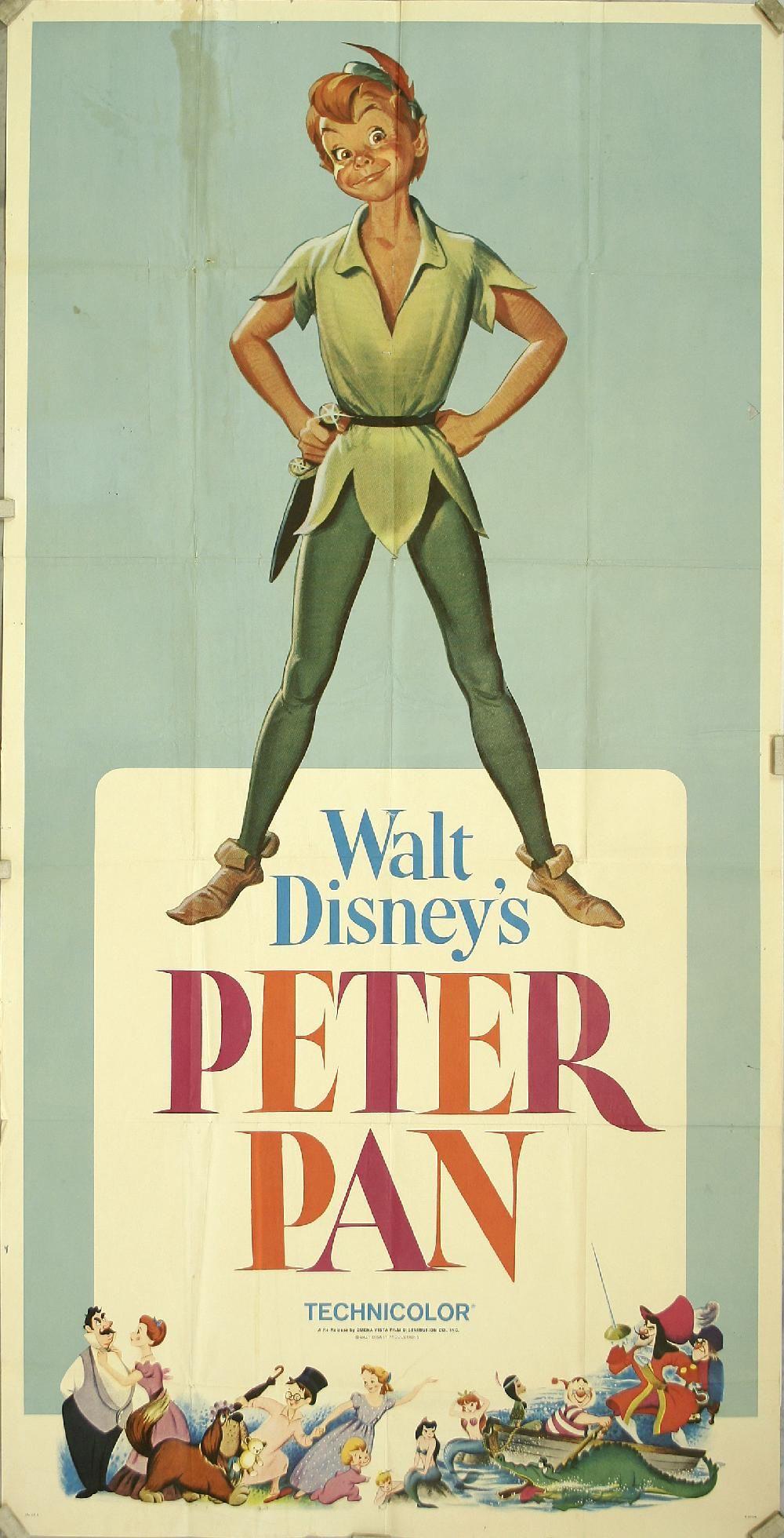PETER PAN 1953 FILM POSTER A3 REPRINT