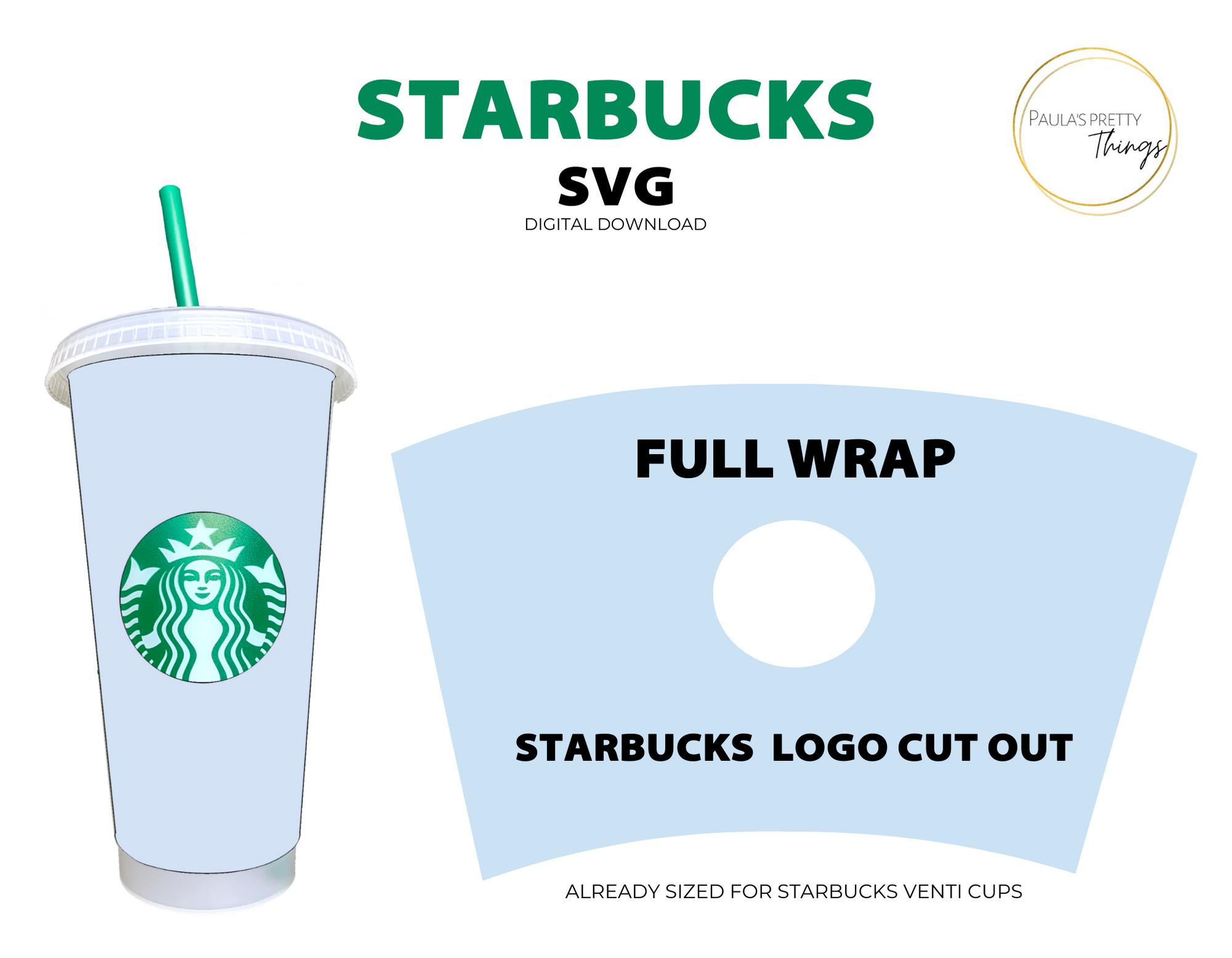 Starbucks Cup Full Wrap Digital Download Custom Starbucks Cup Silhouette Diy Starbucks Cups