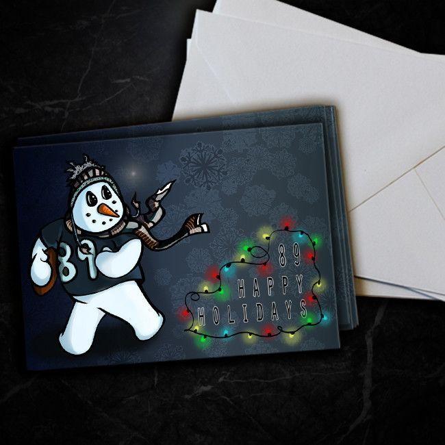 Oakland Raiders Amari Cooper Snowman Christmas Cards 5 Pack