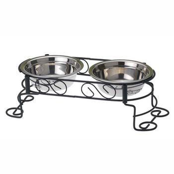 Fancy Scroll Dog Diner