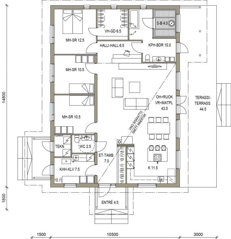 Visio 135 P With Images Floor Plans Architecture Exterior