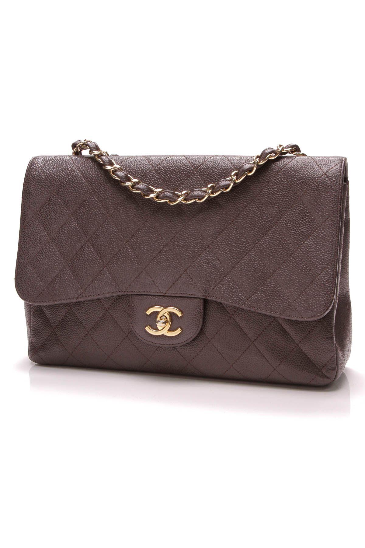 939909f04c0 Chanel Classic Flap Bag - Jumbo Brown Caviar | Fall Into Place ...