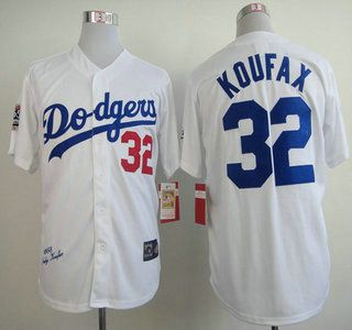 Los Angeles Dodgers Jersey Jersey 32 Sandy Koufax 1958 Throwback Jerseys Dodgers Sandy Koufax Dodgers Jerseys