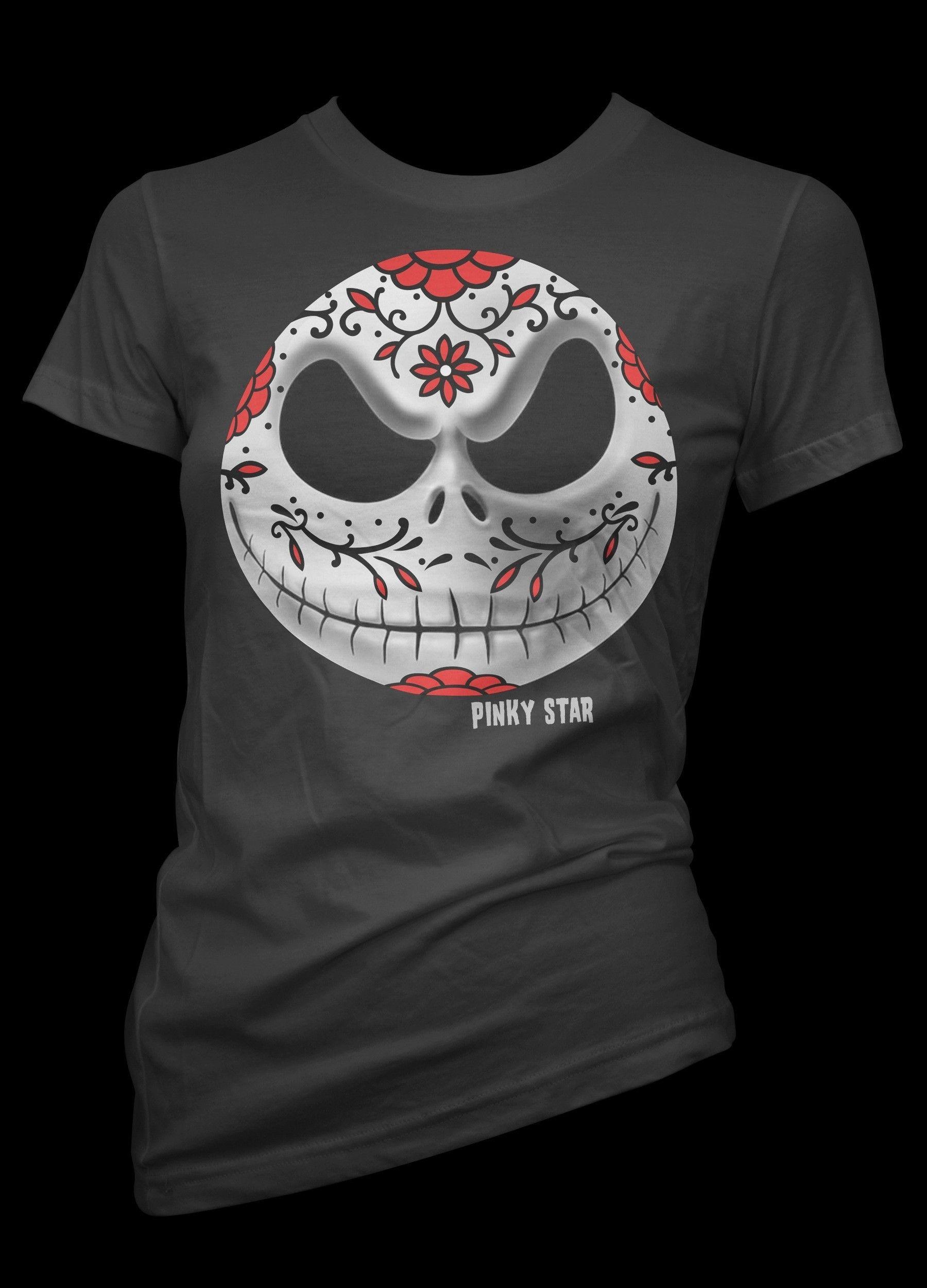Halloween Day Of Dead Panda Tattoo Face Women/'s Racerback High Quality Shirt