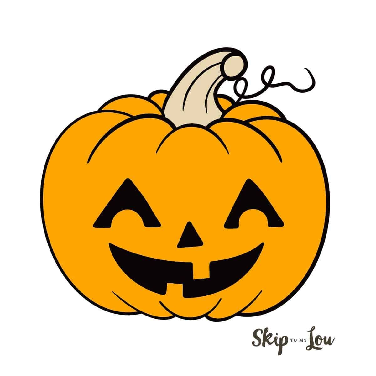 How to Draw a Jack o Lantern, Step by Step, Halloween