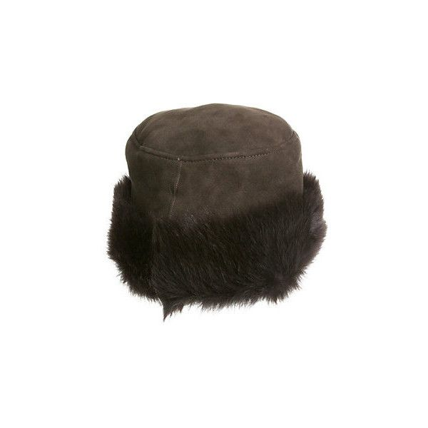3f94bcdf Russian Shearling Sheepskin Cossack Hat with Toscana Trim ($165) ❤ liked on  Polyvore featuring accessories, hats, crown hat, shearling hat, long brim  hat, ...