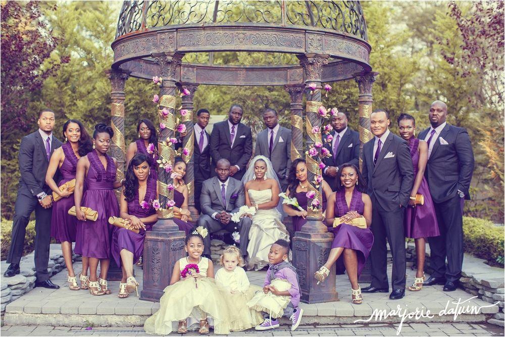 Gold Purple Theme Wedding Georedna Raymond African