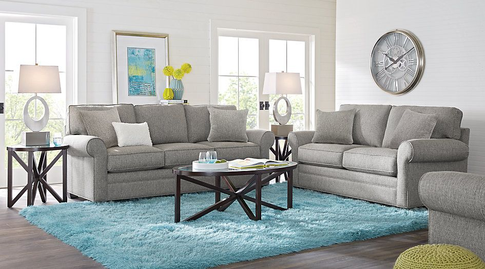 Affordable Living Room Designs Impressive Cindy Crawford Home Bellingham Gray 7 Pc Living Room 16550Find Decorating Design