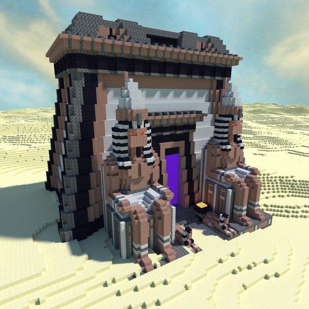 Ancient Nether Portal Em 2020 Projetos Minecraft Construcao De Minecraft Ideias De Minecraft