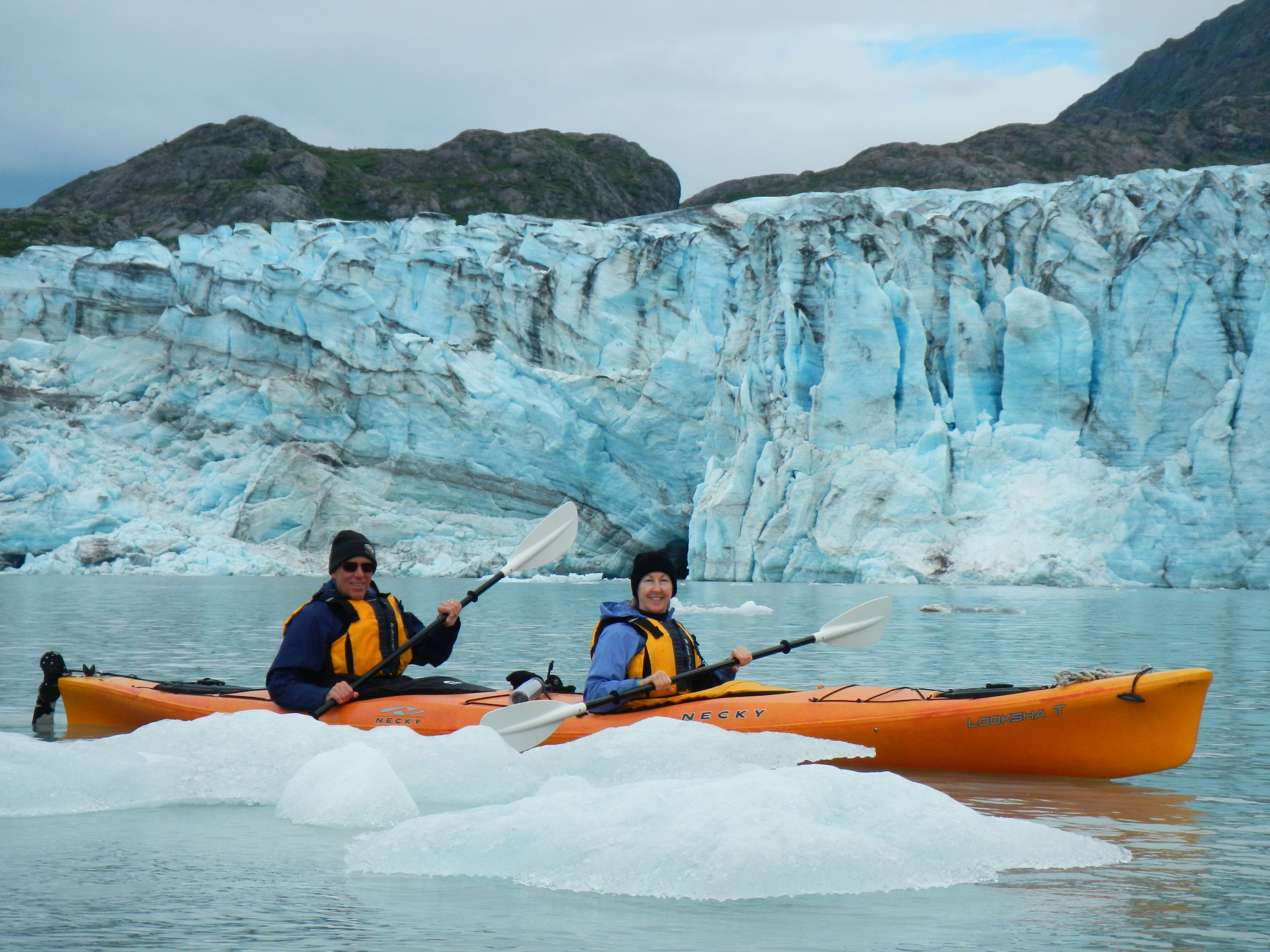 Kayaking amongst the Ice Bergs in Glacier Bay John and Laurie