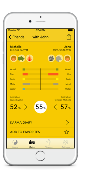 Real love or Summer romance? Find out with Karma Weather for iPhone: free Chinese zodiac compatibility calculator #KarmaWeather
