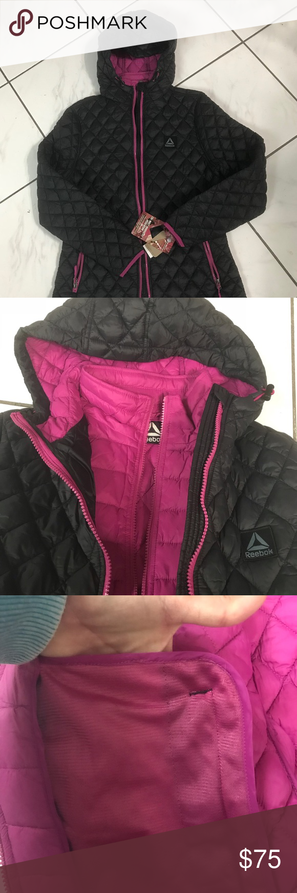 Just In Reebok Outerwear The Most Innovative Insulation Provides Same Warmth As Down Super Light Easy To Packaway Clothes Design Fashion Fashion Trends [ 1740 x 580 Pixel ]