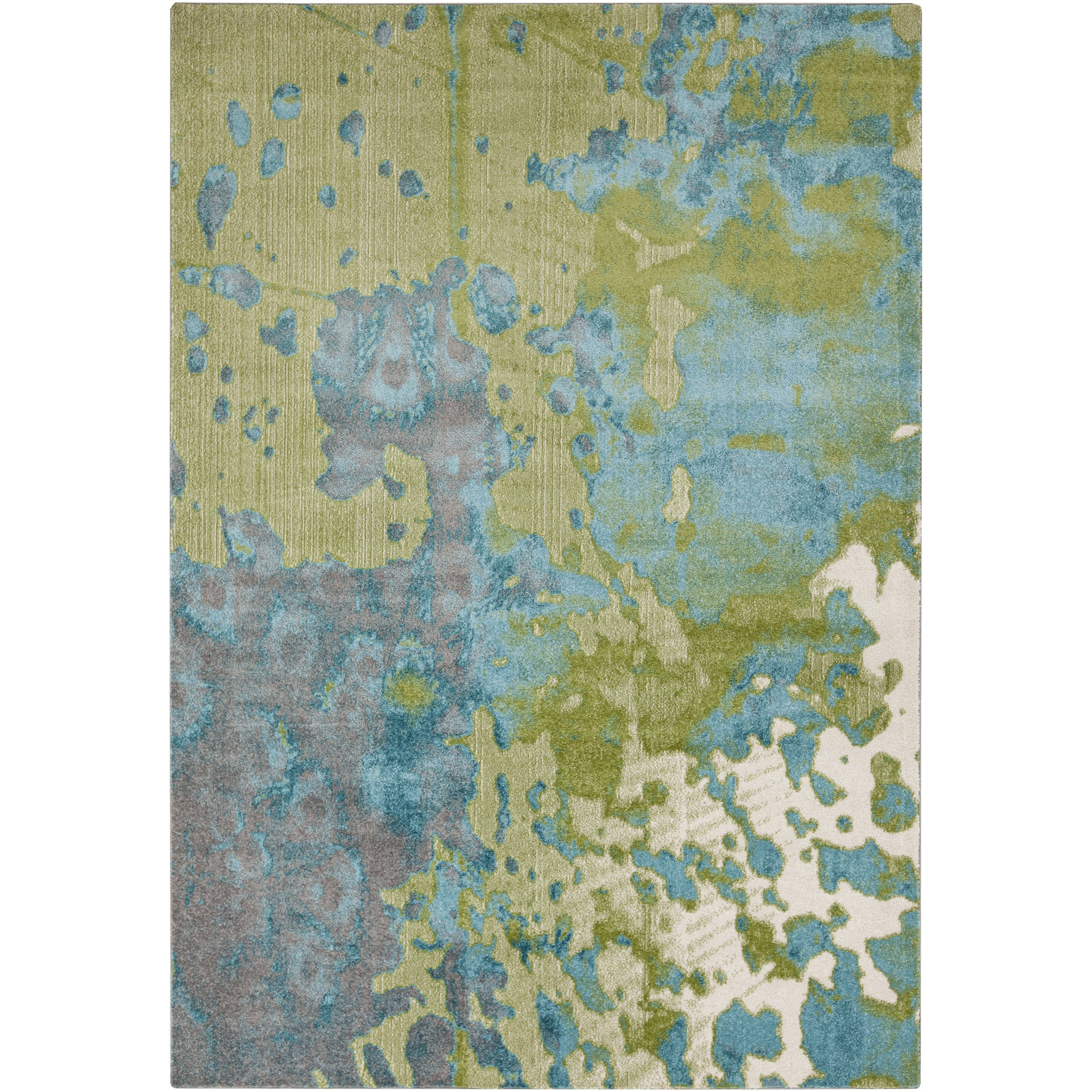 Ann Abstract Area Rug 2 2 X 3 Green Blue Products