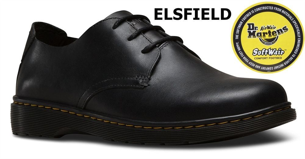 99a178a0078a Dr Martens Mens Elsfield Black Westfield Leather Softwair 1461 Shoes ...