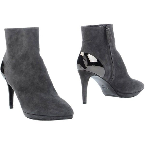 Baldan Ankle Boots ($300) ❤ liked on Polyvore featuring shoes, boots, ankle booties, lead, leather zipper boots, zip boots, real leather boots, leather ankle bootie and ankle boots