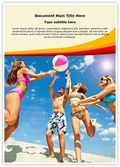 Beach Fun Word Document Template Is One Of The Best Word Document