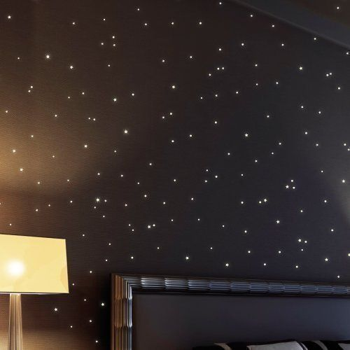 wandtattoo 350 fluoreszierende leuchtpunkte f r sternenhimmel bestehend aus 150 leuchtenden. Black Bedroom Furniture Sets. Home Design Ideas