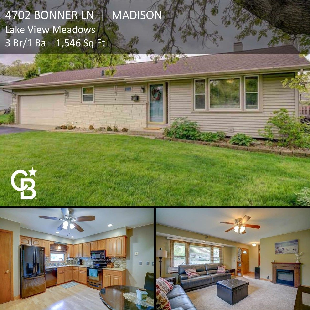 Madison Wi Lake View Meadows 3 Br 1 Ba Experience Madison S Northside Beautifully Maintained Ranch St Ranch Style Fenced In Yard Condos For Sale