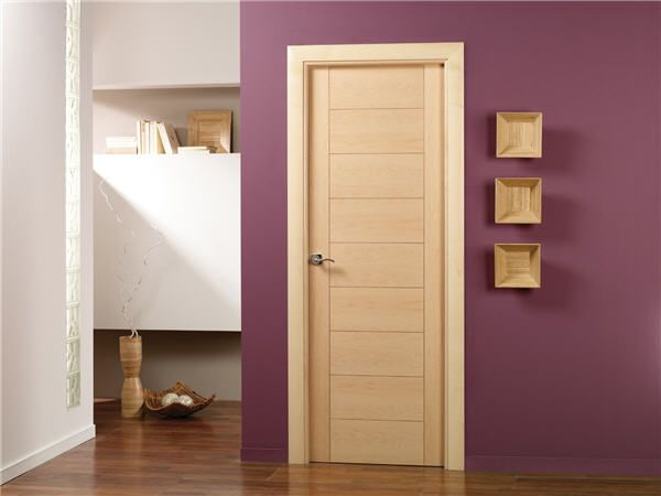 Los mejores dise os de puertas de madera modernas para for Puertas de madera para habitaciones