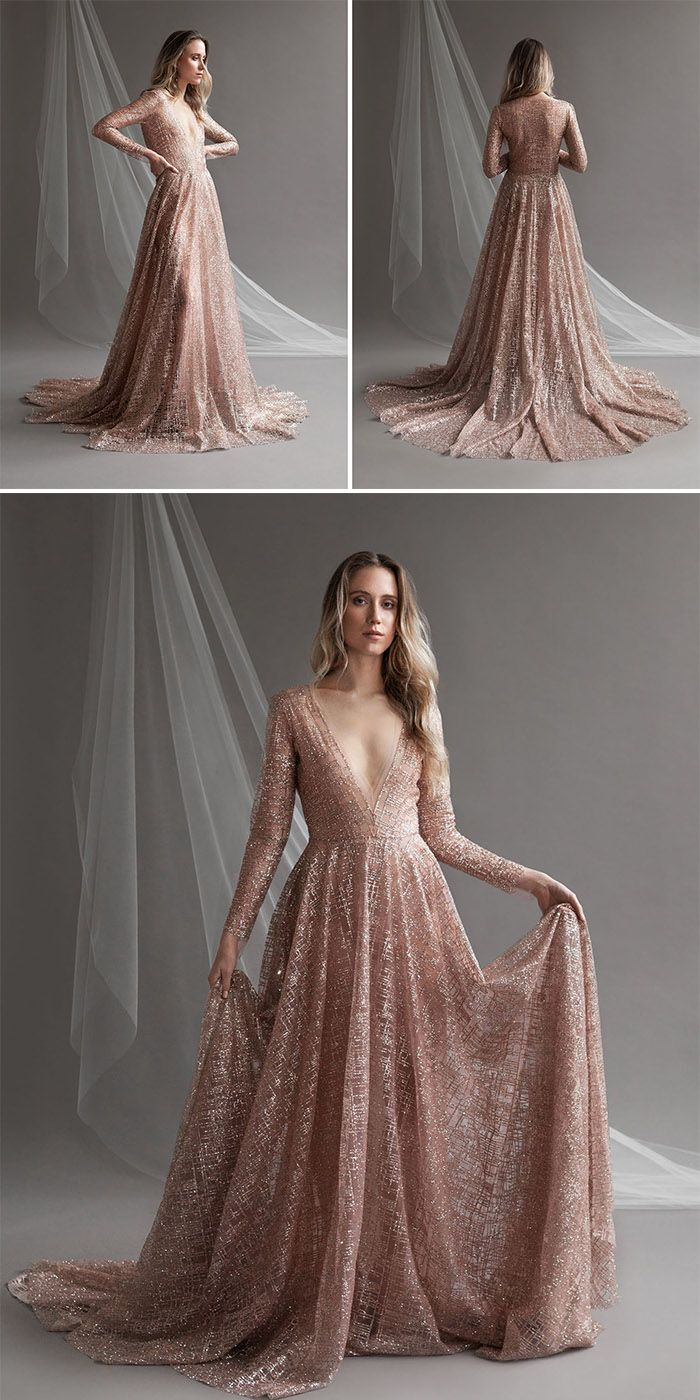 2021 Wedding Trends Chic Rose Gold Wedding Ideas Elegantweddinginvites Com Blog Rose Gold Wedding Dress Rose Gold Wedding Gold Wedding Dress