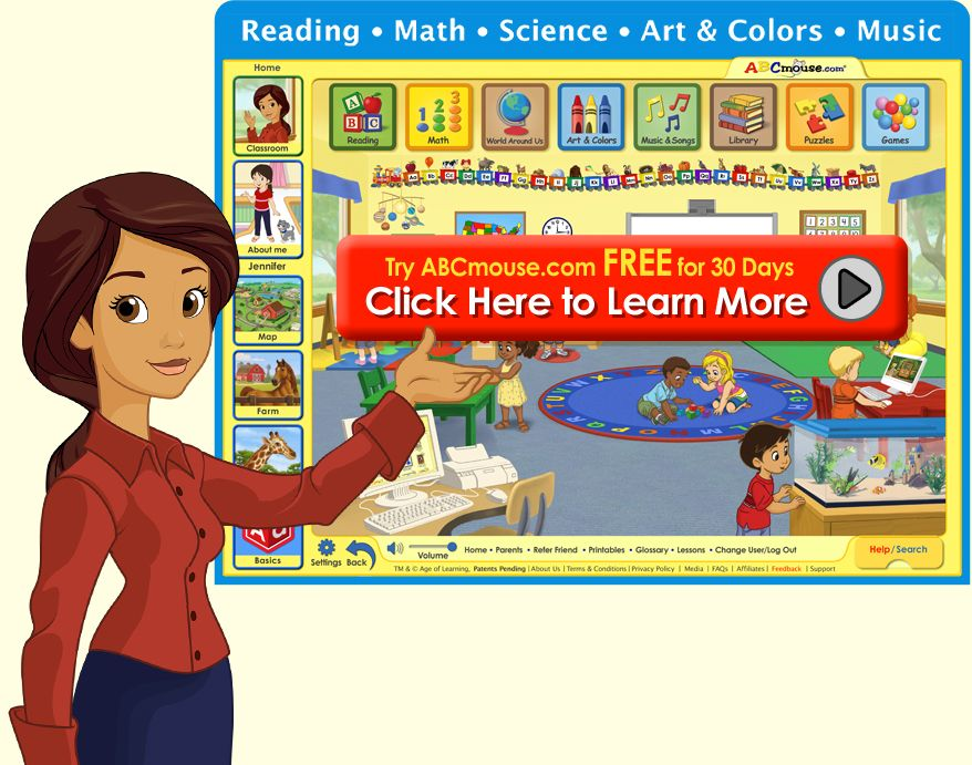 ABCmouse com offers teachers the most comprehensive online