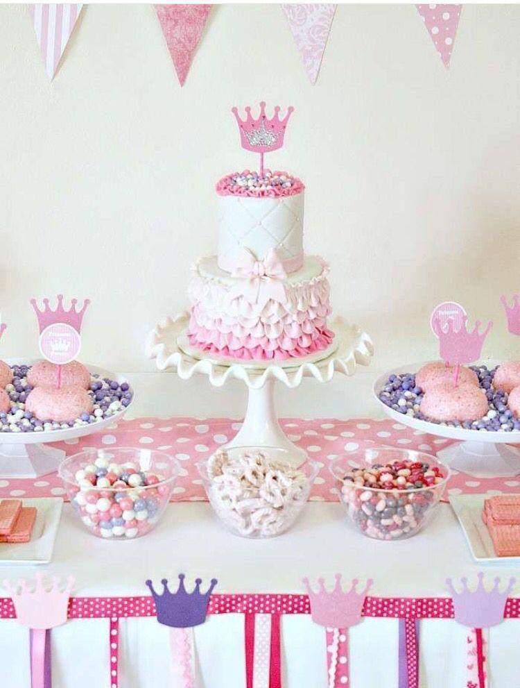 Cake Table Birthday Parties Princess Party 1st Birthday Parties