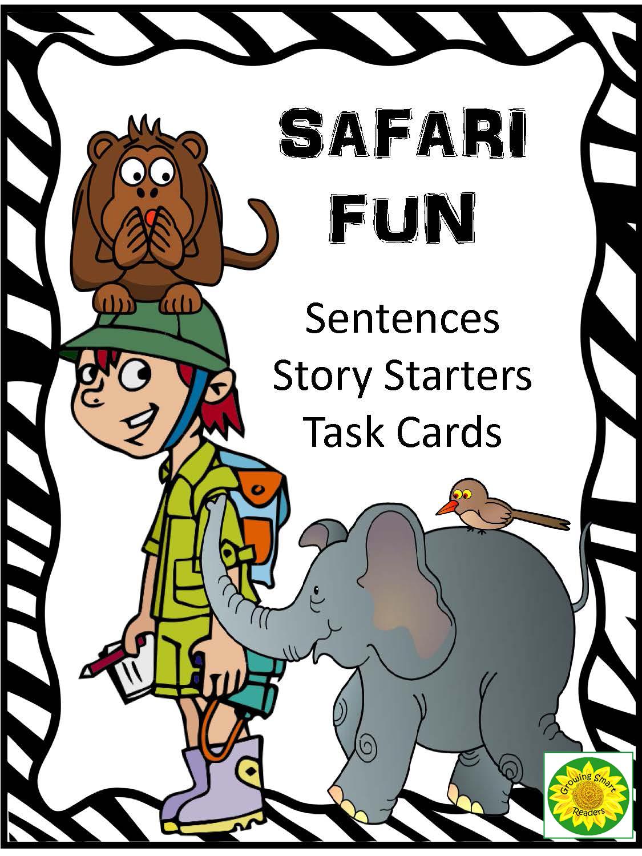 Safari Sentences - Story Starters | School ideas | Writing