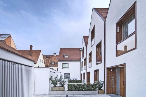 Hofansicht - Stadthäuser Architekten Pinterest