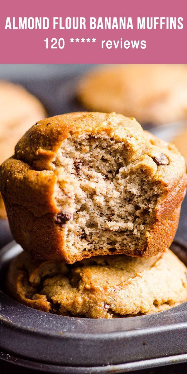 Almond Flour Banana Muffins that are low carb and