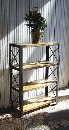 wooden bookcase furniture storage shelves shelving unit. BOOKCASES: Made To Order Of Recycled Steel, Bookshelf, Reclaimed Wood And Angle Iron Wooden Bookcase Furniture Storage Shelves Shelving Unit U
