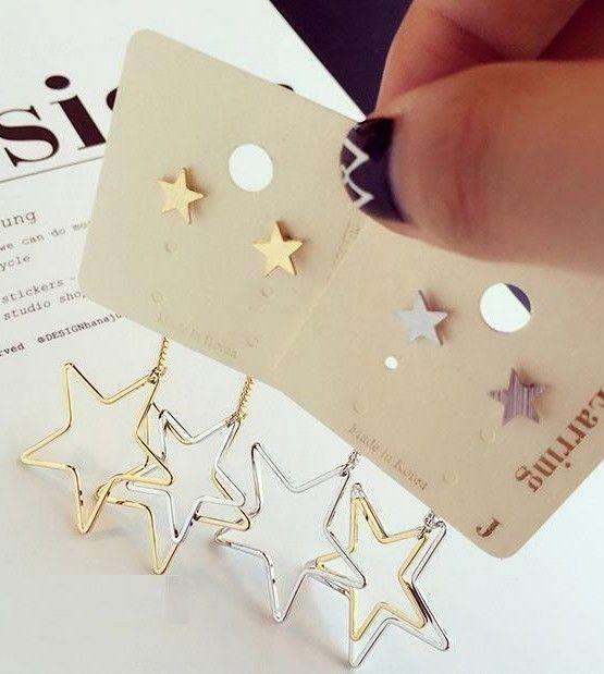 BÔNG TAI NGÔI SAO TÒN TEN B3748 Bông tai ngôi sao tòn ten thương hiệu YUNA được làm bằng hợp kim màu vàng ánh kim. Bông tai hình ngôi sao tòn ten cá tính và hiện đại. Thích hợp với mọi bạn gái.  65.000