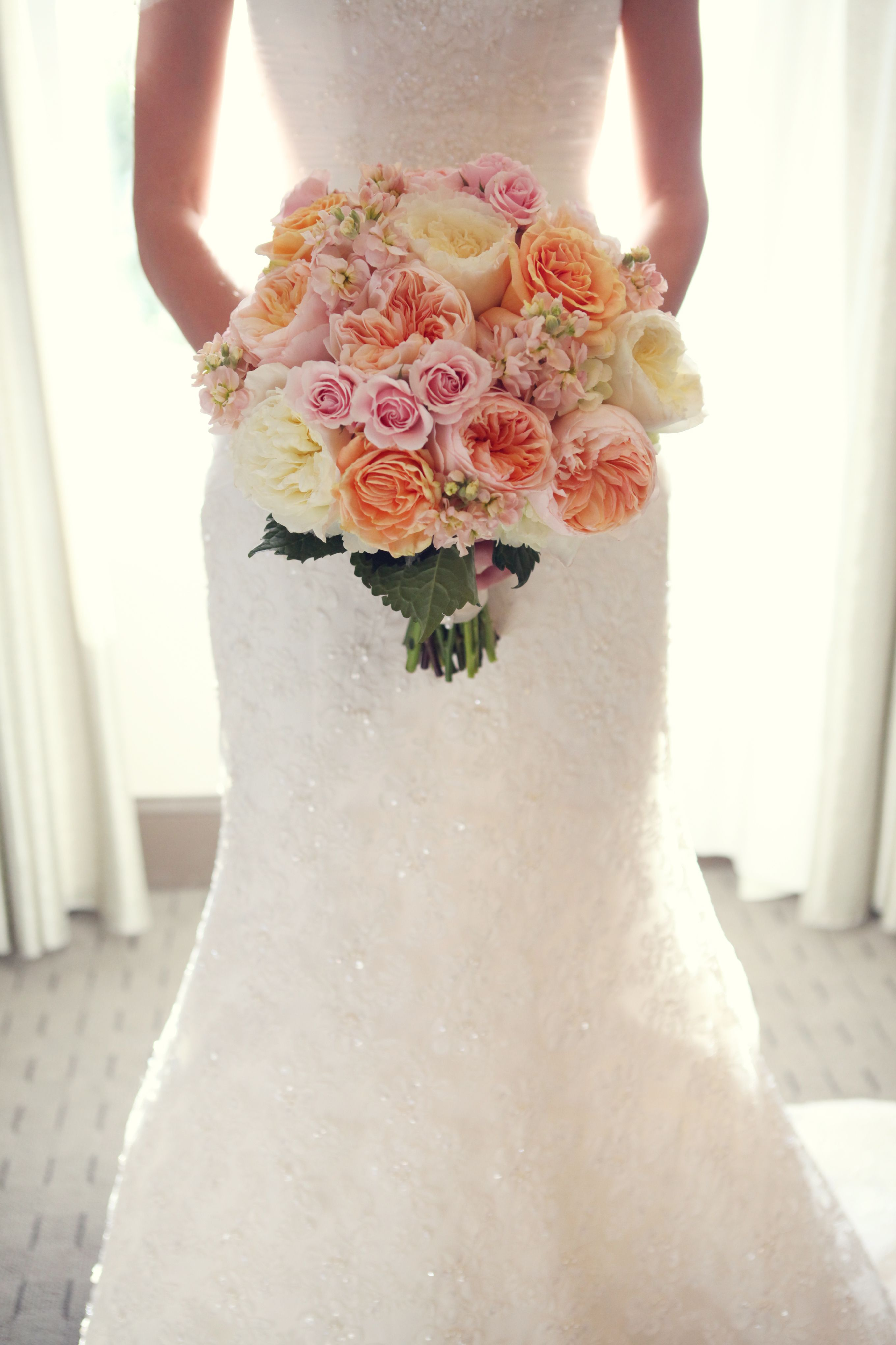 pink and coral wedding bouquet flowers bridal bouquet for the bride image