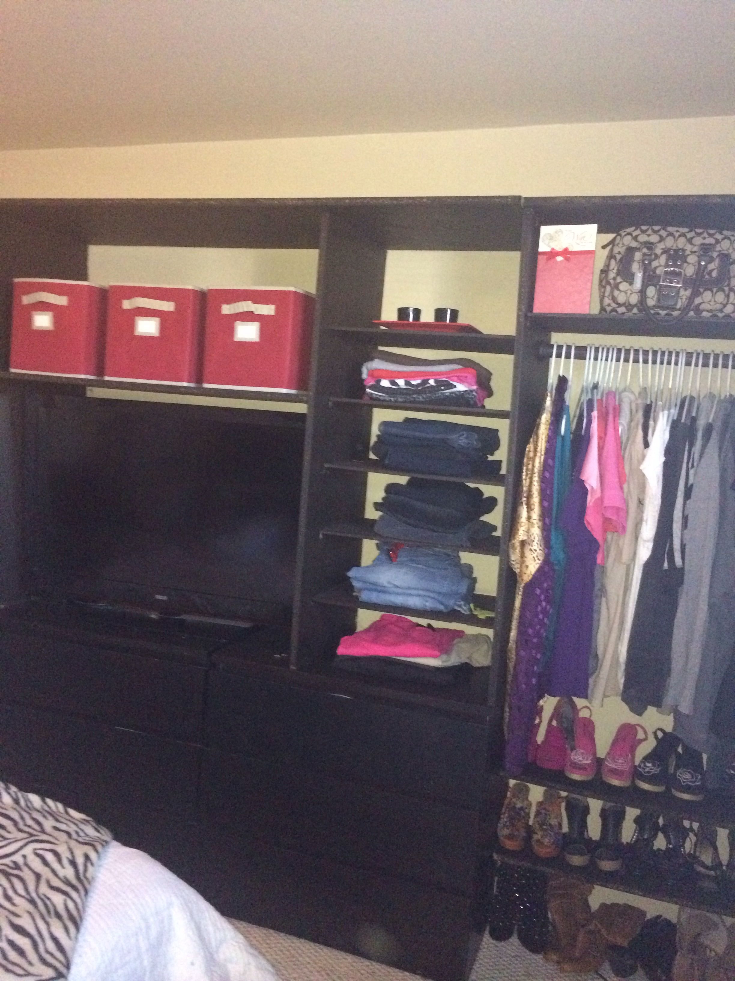 Handmade Closet Organizer It Cost Less Then 130 00 To Make This Whole Thing Great For Little Closet In Bedro Closet Organization Closet Bedroom Closet Space