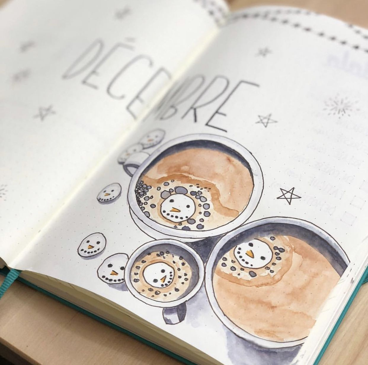 10 Winter Bullet Journal Cover Pages