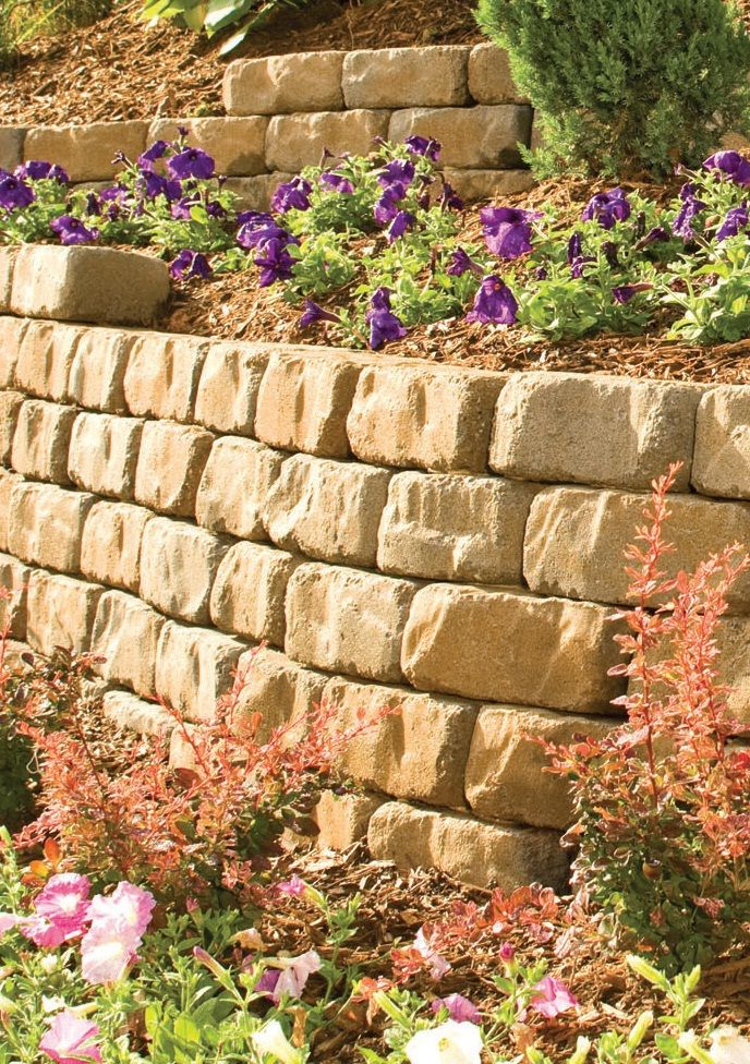 Create a wall in your backyard. These bricks are naturally worn ...