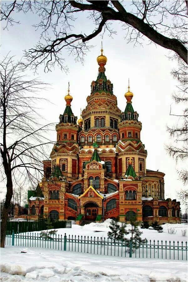 Saint Petersburg Peter And Paul Cathedral In Peterhof Russia