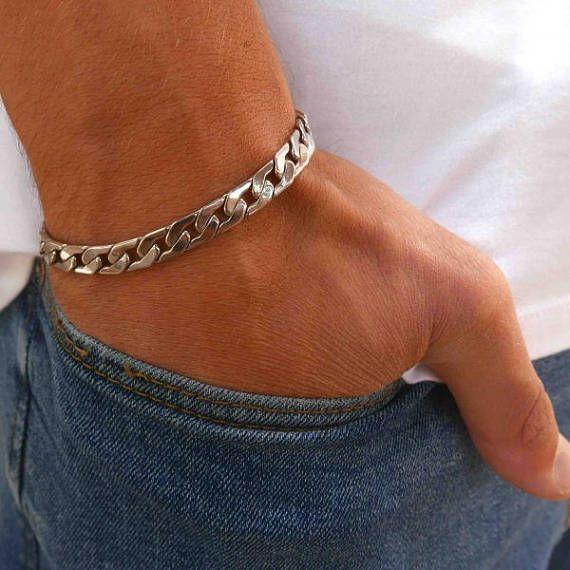 d9f5952ccd2ba Men's Bracelet - Men's Silver Bracelets - Men's Chain Bracelet ...