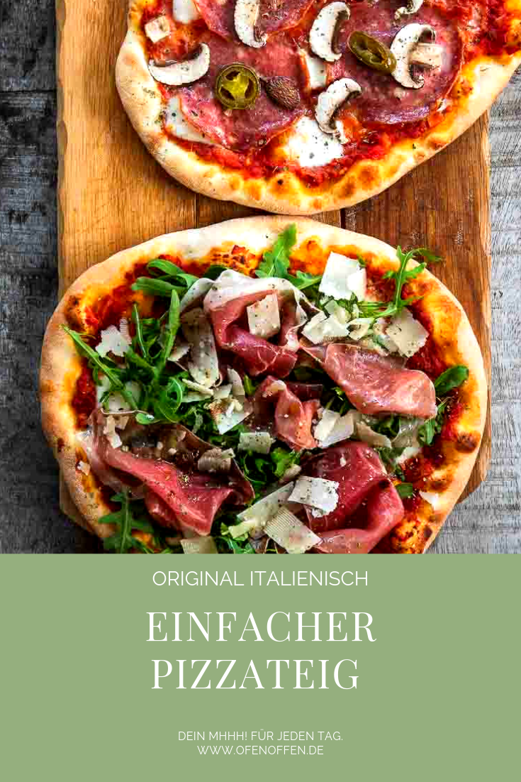 Pizzateig selber machen - Grundrezept mit Trockenhefe #pizzateigmittrockenhefe