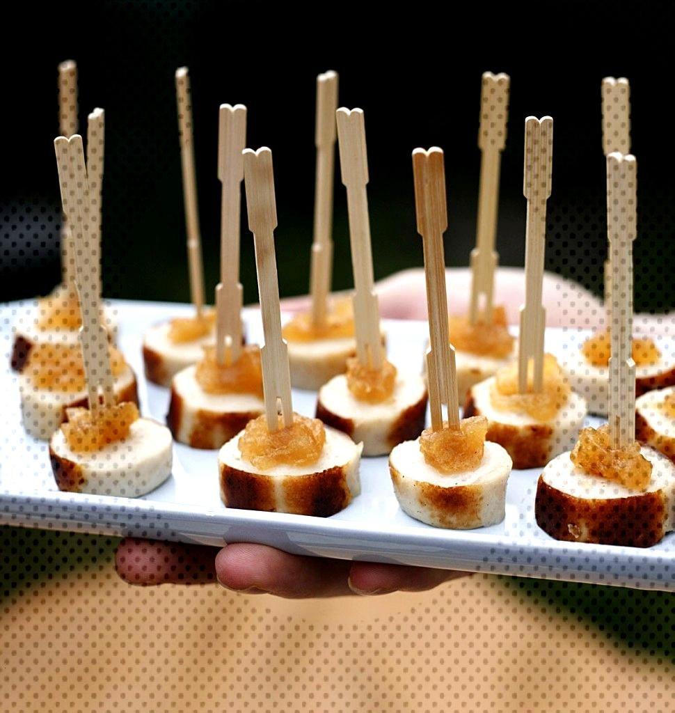 Pique boudins blancs et confit de pommes - Recettes de cuisine Odelices