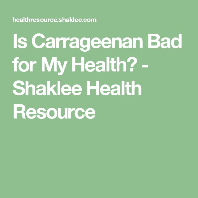 Is Carrageenan Bad for My Health? - Shaklee Health Resource