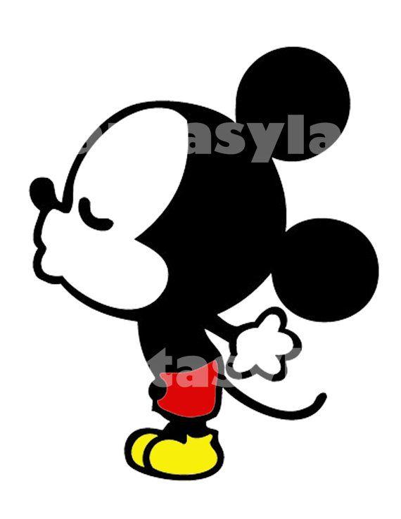 Archivo De Raton Besos Diy Transferencia Por Fantasylandprintable Mickey Mouse Y Amigos Dibujos De Personajes De Disney Mickey Mouse Antiguo