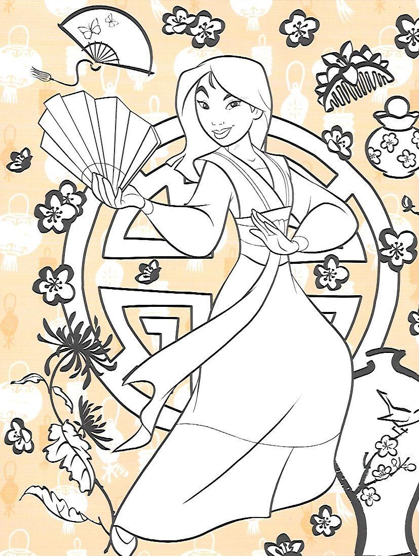 Disney's Mulan - Coloring Page | Disney princess coloring ...
