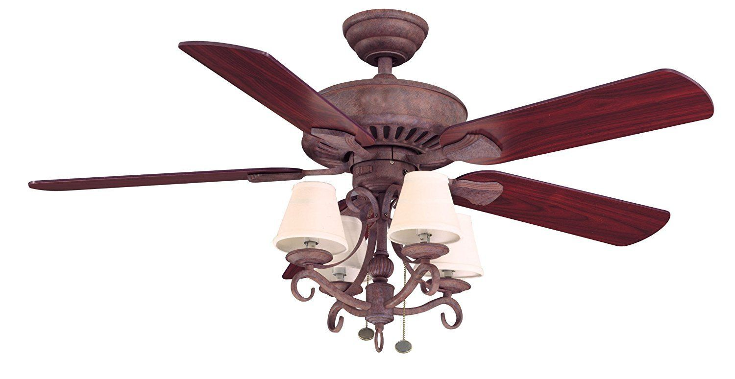 Hampton Bay Traditional 5 Blade Ceiling Fan With Rosewood Or Honey