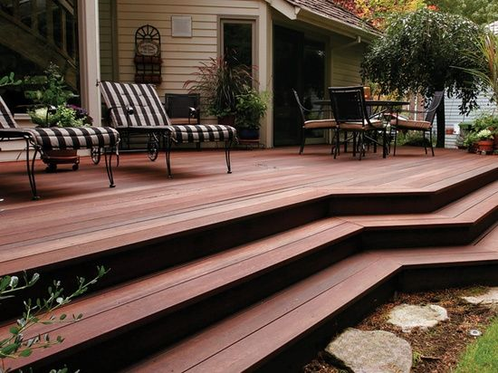 Dark Red Meranti Decking