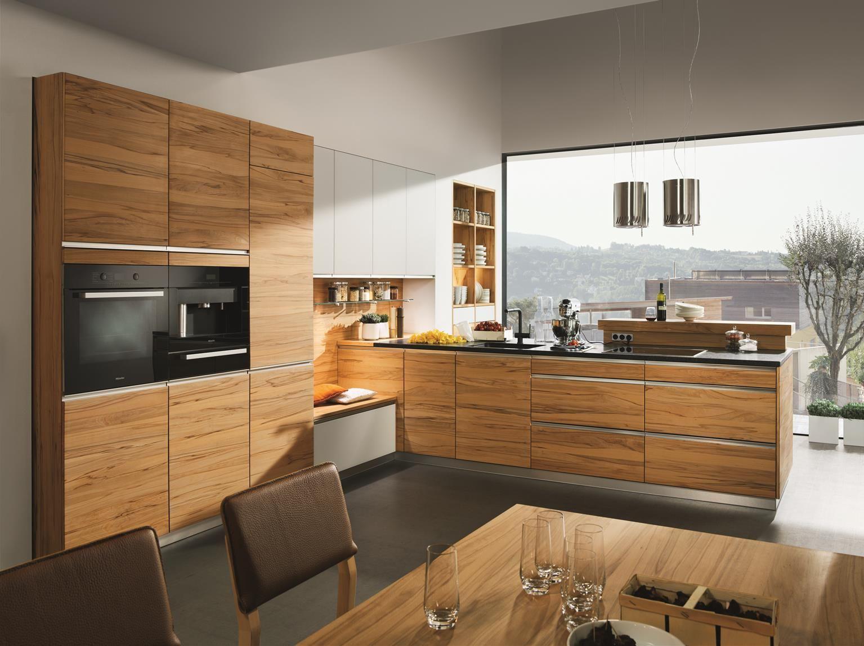 Küche Linee Holz Kernbuche natur geölt Massivholzküchen