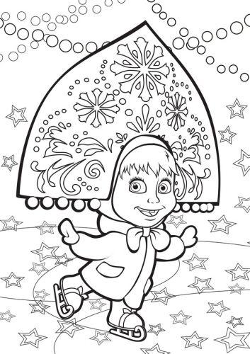 Pin By Marija Pankratova On Enfant Marsha And The Bear Coloring For Kids Fairy Tales