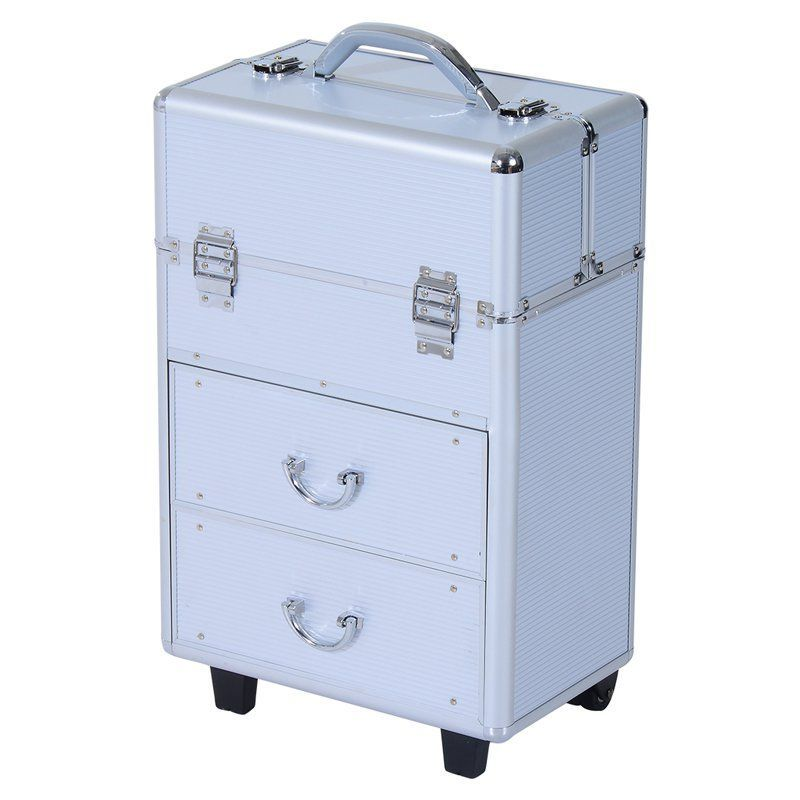 c4b4d6ef333e Soozier 4 Tier Lockable Cosmetic Makeup Train Case with Extendable ...