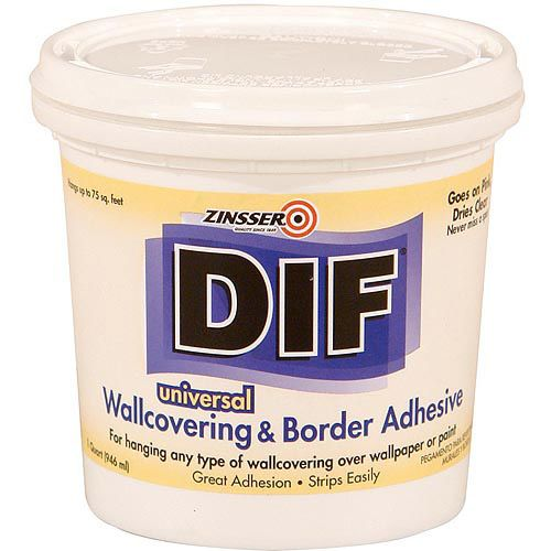 Zinsser Dif Wallcovering And Border Adhesive Walmart Com Wall Coverings Adhesive Home Improvement