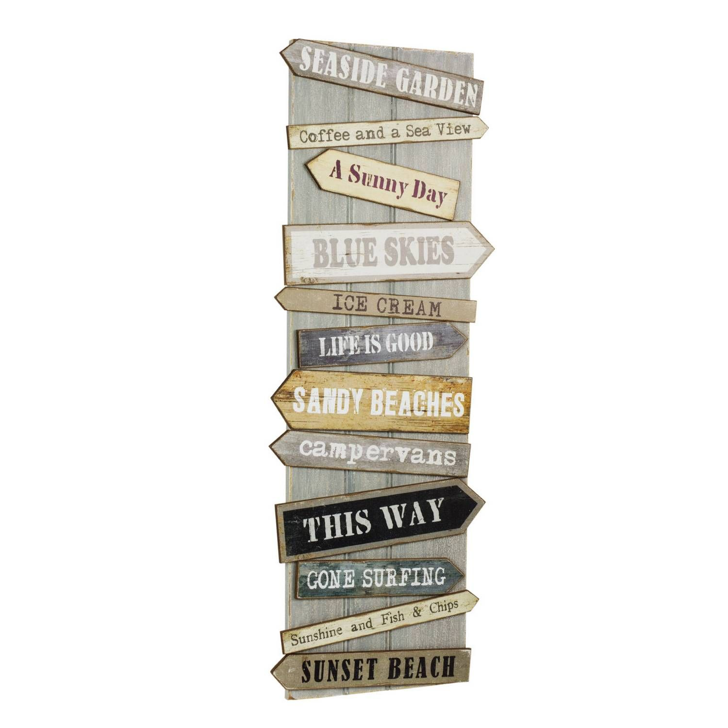 Buy Beach Signs Wooden Wall Art Gallery Wall Art The Range Beach Signs Wooden Beach Signs Wall Signs