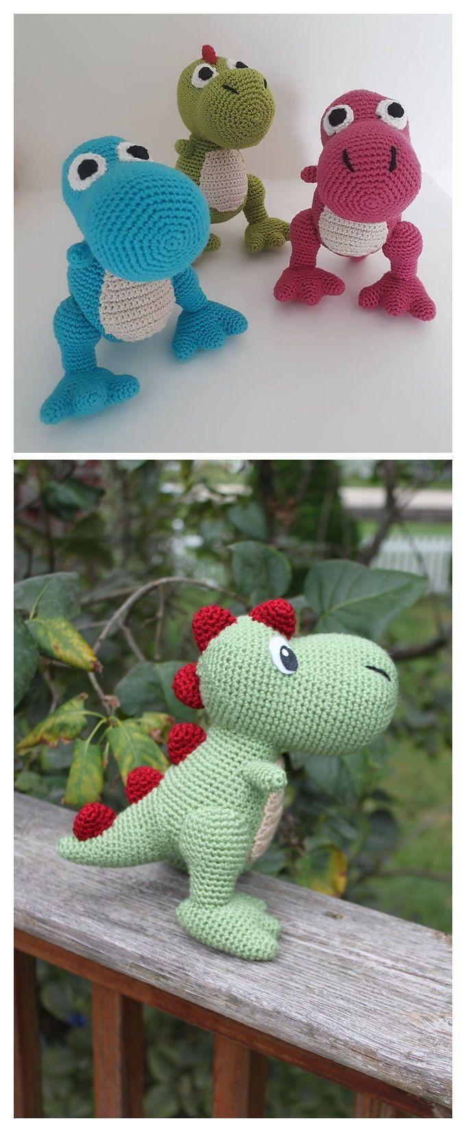 T-Rex Amigurumi Free Crochet Pattern - Knitting Projects ...